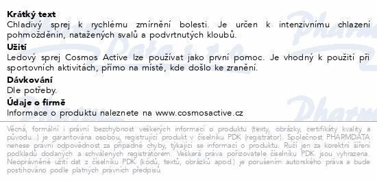 Informace o produktu Cosmos Active - Ledový sprej 200 ml