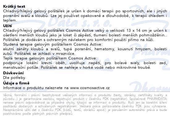 Informace o produktu Cosmos Active - Gel polštářek opakov.použití malý