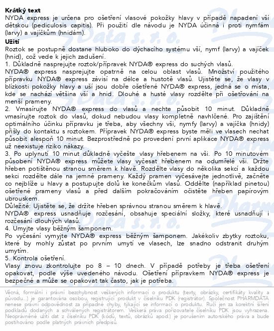 Informace o produktu NYDA express proti vším a hnidám 50ml
