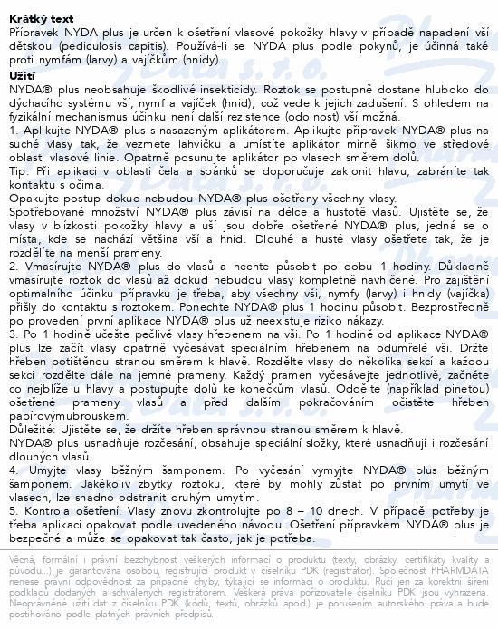 Informace o produktu NYDA plus proti vším a hnidám 100ml