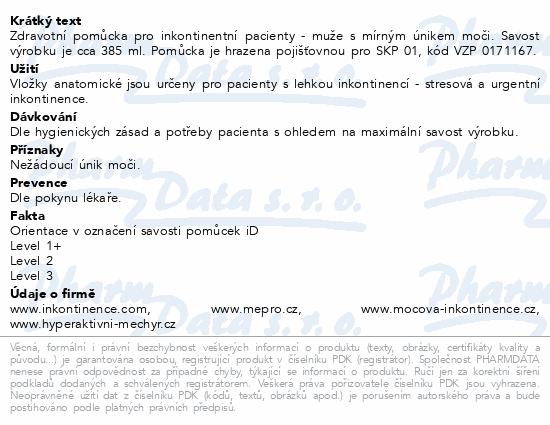 Informace o produktu Vložky absorpční iD for men Level 1+ (10ks)