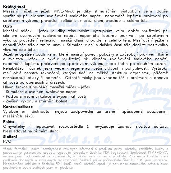 Informace o produktu KineMAX Hedgehog Masážní míček ježek 6cm modrý