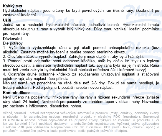 Informace o produktu URGO FAST HEALING-KNEE Na kolena hydrok.nápl.6ks