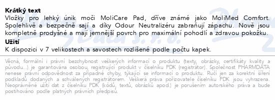 Informace o produktu MoliCare Pad 4kap Maxi P30 (MoliMed Comfort maxi)