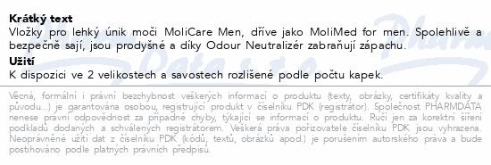 Informace o produktu MoliCare Men 2 kapky P14 (MoliMed for men active)