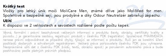 Informace o produktu MoliCare Men 4 kapky P14 (MoliMed for men protect)
