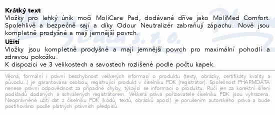 Informace o produktu MoliCare Pad 3 kapky Midi P30 (MoliMed Comf. midi)