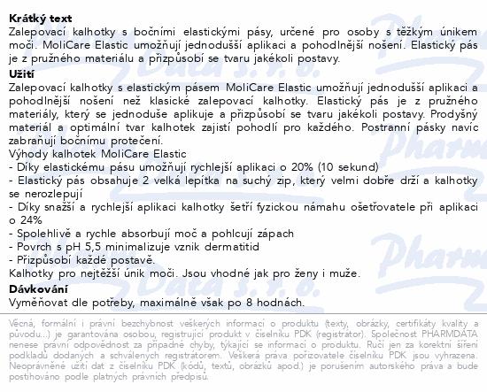 Informace o produktu MOLICARE ELASTIC 9kap XL 14ks(MoliCare Elastic XL)
