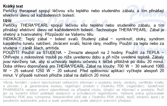 Informace o produktu TheraPearl Pejsek