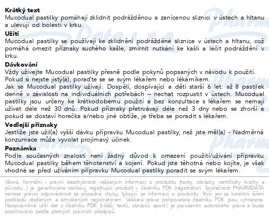 Informace o produktu Mucodual 80-5mg 18 pastilek