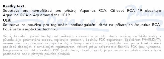 Informace o produktu CITRASET RCA19 (Aqualine+Aquamax HF19) 5ks