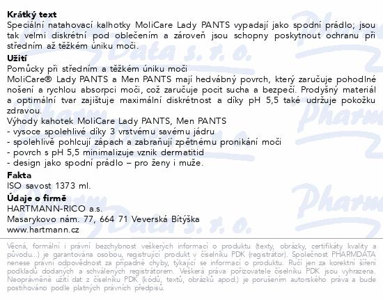 Informace o produktu Molicare Lady Pants 7 kapek L 7ks