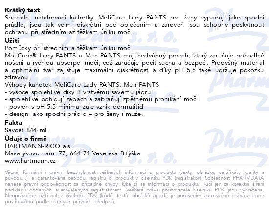 Informace o produktu Molicare Lady Pants 5 kapek L 7ks