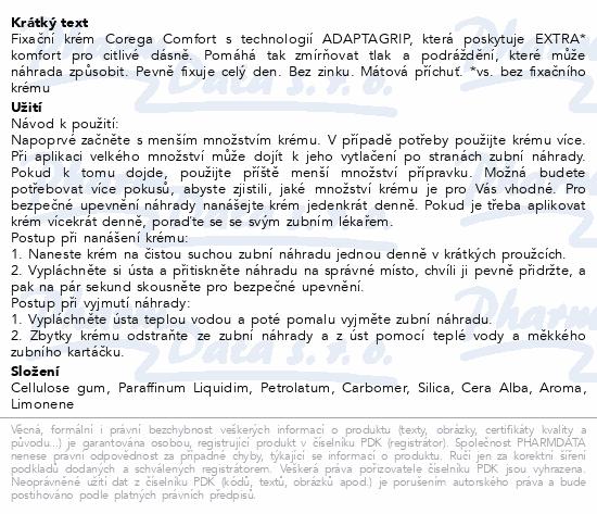 Informace o produktu Corega Comfort 40g