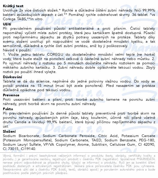 Informace o produktu Corega dvojitá síla čisticí tablety 36ks