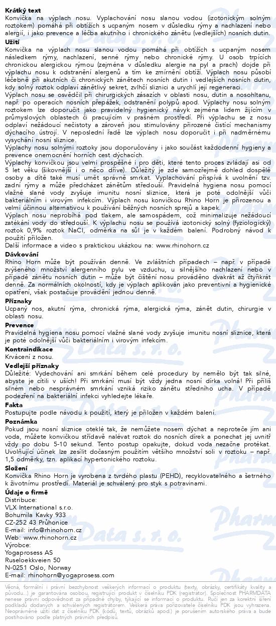 Informace o produktu Rhino Horn Konvička na výplach nosu - zelená