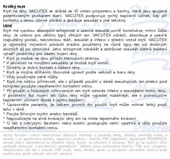 Informace o produktu Vacutex kapilární krytí 10x10cm 10ks