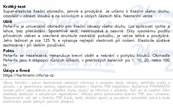 Informace o produktu Obin.elast.fix.Peha-fix 6cmx4m/20ks (Peha-crepp)