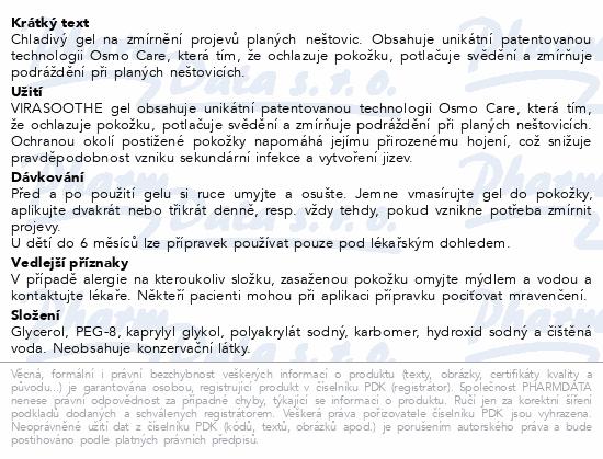 Informace o produktu VIRASOOTHE Chladivý Gel 50g