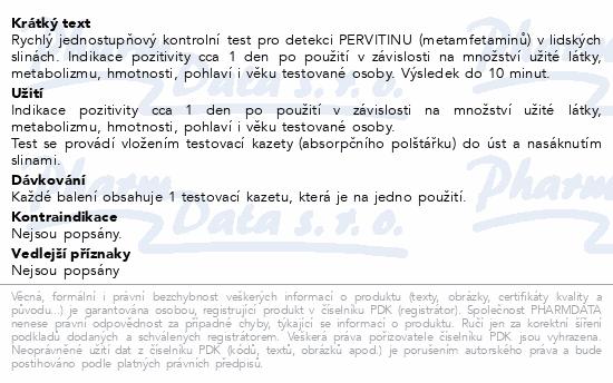 Informace o produktu Test na pervitin (metamfetaminy) ze slin 1ks