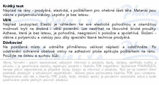 Informace o produktu Leukoplast Elastic náplast pružná 6cmx1m