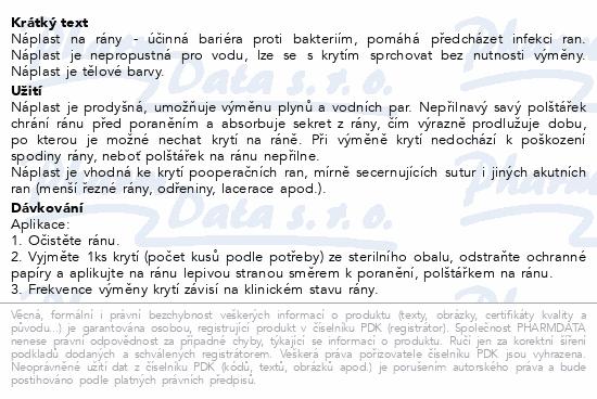 Informace o produktu Leukoplast Barrier náplast voděodol.3 vel. 20ks
