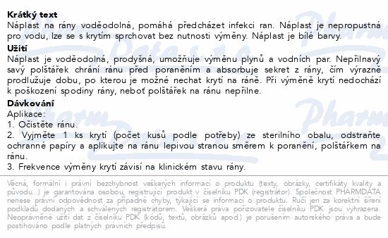 Informace o produktu Leukoplast Aqua Pro náplast voděodol.38x63mm 10ks