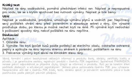 Informace o produktu Leukoplast Aqua Pro náplast voděodol.3 vel. 20ks