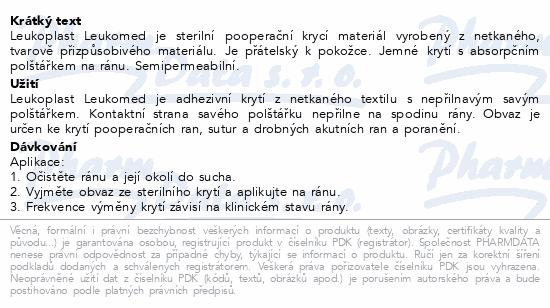 Informace o produktu Leukoplast Leukomed netkan.krytí polšt.5x7.2cm 5ks