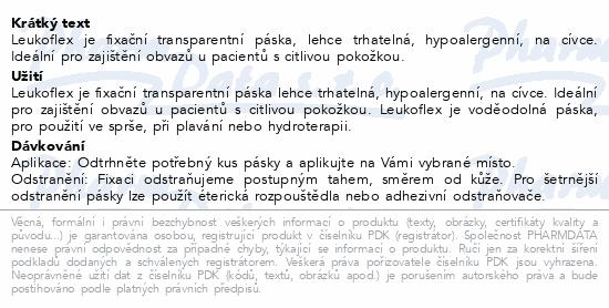 Informace o produktu Leukoflex fixační páska transp./cívka 2.5cmx5m