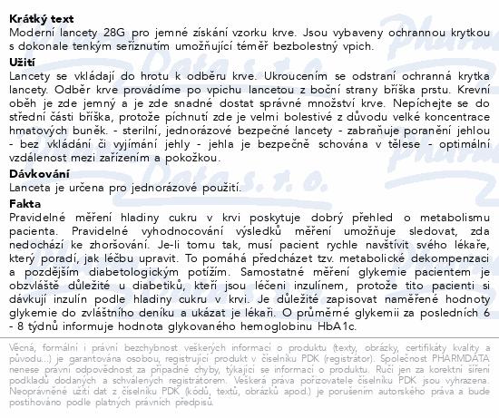 Informace o produktu Lanceta Element 28G 50ks