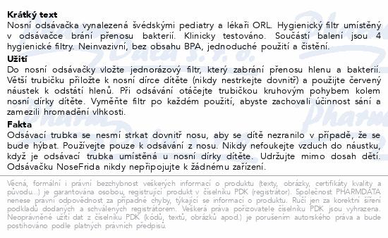 Informace o produktu fridababy NoseFrida nosní odsávačka