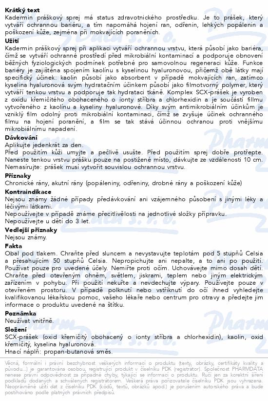 Informace o produktu KAdermin práškový sprej 125 ml