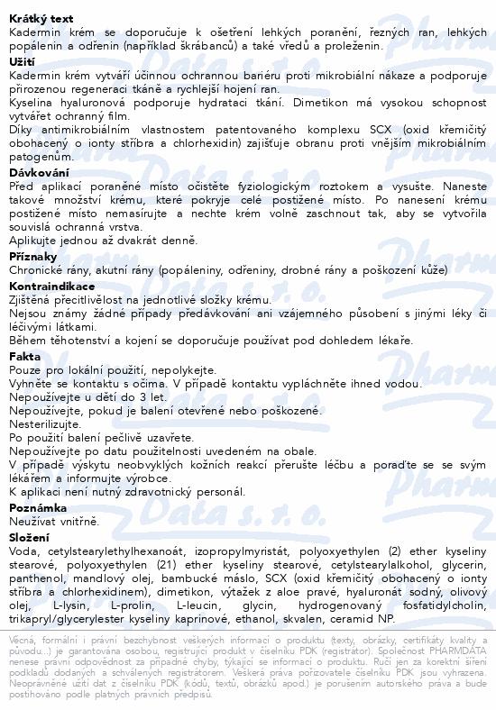Informace o produktu KAdermin krém 15 ml