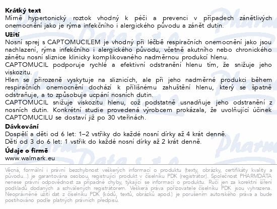 Informace o produktu Walmark Sinulan Forte Expr.Junior nosní sprej 20ml