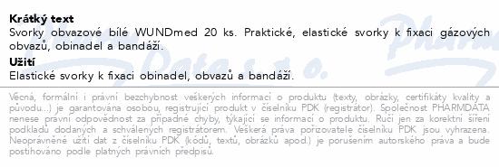 Informace o produktu Svorky obvazové bílé WUNDmed 20 ks