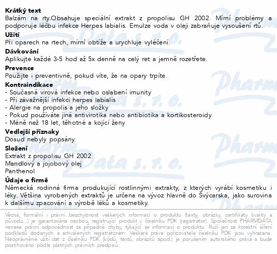 Informace o produktu Herpetino Balzám na rty 10 ml