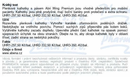 Informace o produktu Inkont.kalhotky s pásem Abri Wing Premium L4 15ks