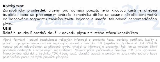 Informace o produktu Rektální rourka RIOCATH modrá