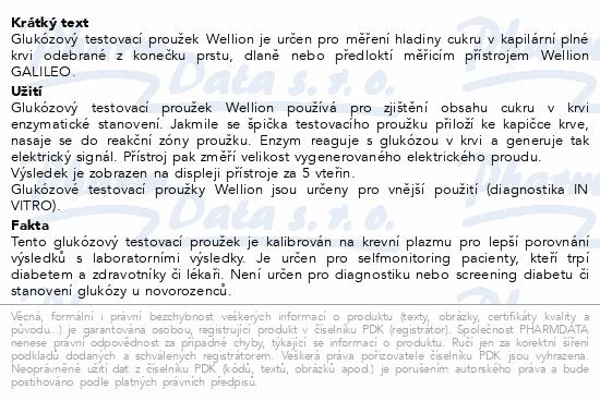 Informace o produktu Test. proužky Wellion Galileo Vltava glukóza 50 ks