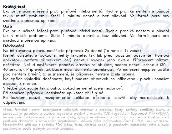 Informace o produktu Excilor proti plísni nehtů pero 3.3ml
