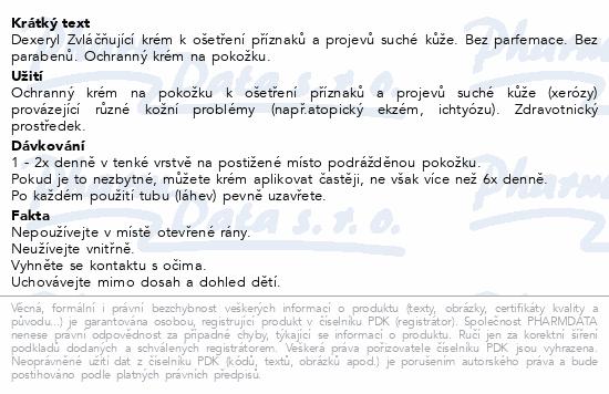 Informace o produktu DEXERYL Krém 500g