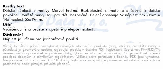 Informace o produktu Hansaplast Marvel Kids 20ks