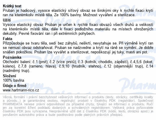 Informace o produktu Pruban elast.hadic.č. 3/ 1mx20mm 4273330