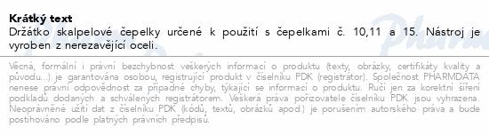 Informace o produktu Držátko skalpel.čepelek č.3 ČLR