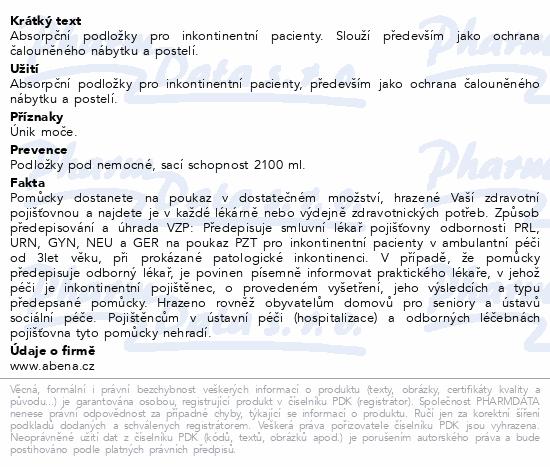 Informace o produktu Inkont. podložky Abri Soft Classic 60x90cm. 25ks