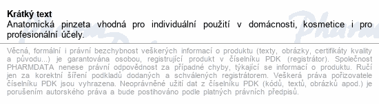 Informace o produktu Pinzeta anatomická 150mm