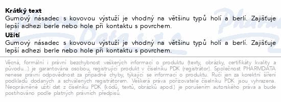 Informace o produktu Násadec na berle 3TK pryž.trv.černý kov.výzt.18/42