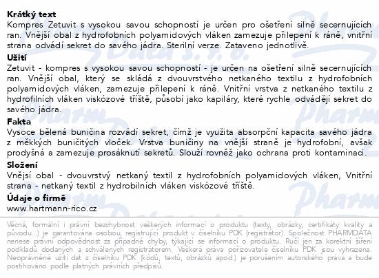 Informace o produktu Kompres Zetuvit ster.10x20cm nepřil. 25ks