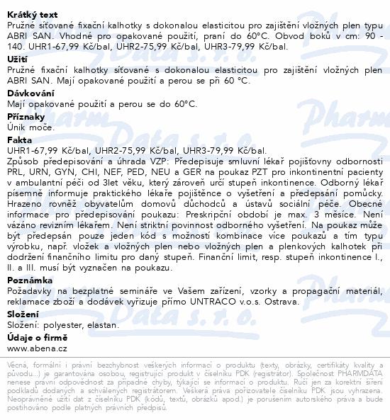 Informace o produktu Inkont.fixač.kalh. Abri-Fix Net Large. 5ks